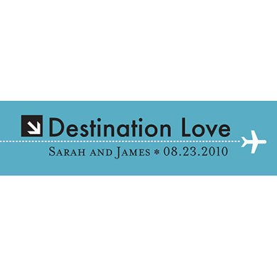 Destination Love  Airplane Wedding Favor tags