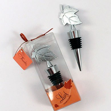 Leaf Wine Bottle Stopper Wedding Favor