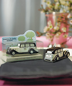 An Elegant Ride Wedding Mini Car Wedding Candle Favor