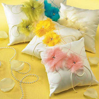 I Do . . . Color Ceremony Ring Pillow