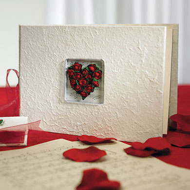 Flower of Love In Romantic Red Wedding Reception accessory Album Books