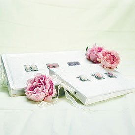 Pleasing Roses Wedding Guest Books