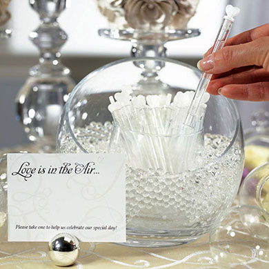 Love Wedding Favor Bubble Wands