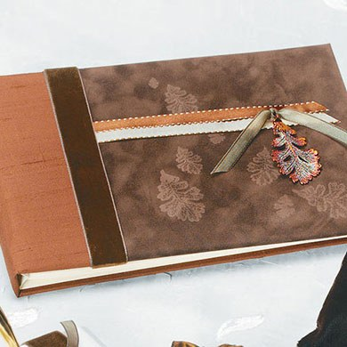 Autumn Splendor Traditional Reception Wedding Guest Book