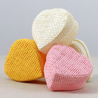 Woven Heart Shaped Wedding Favor Box
