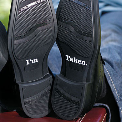 I'm Taken Shoe Talk Decals for Shoes