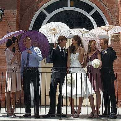 wedding paper parasols