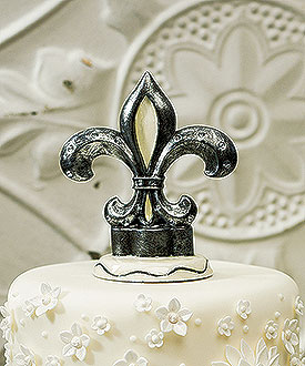 Decorative Fleur De Lis Cake Topper