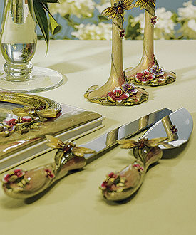 Ornamental Dragon Fly with Jewels Cake Serving Set