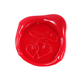 Double Hearts Flexible Wax Envelope Seals