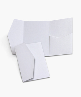 5 x 7 Signature Side Landscape Wedding Invitation Pocket Folds®
