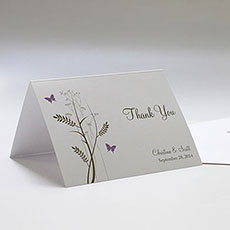 Romantic Butterfly Thank You Card