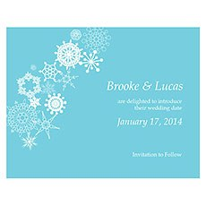 Winter Finery Save The Date Card