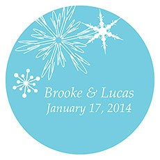 Winter Finery Large Sticker