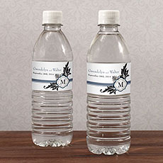 Lavish Monogram Water Bottle Label