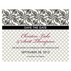 Eclectic Patterns Save The Date Card