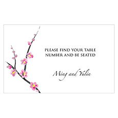Cherry Blossom Table Sign Card