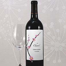 Cherry Blossom Wine Label