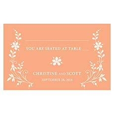 Forget Me Not Table Sign Card