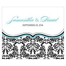 Love Bird Damask Rectangular Label