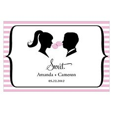Sweet Silhouettes Large Rectangular Tag