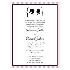 Sweet Silhouettes Invitation