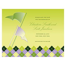 Golf Save The Date Card