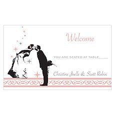 Vintage Hollywood Table Sign Card
