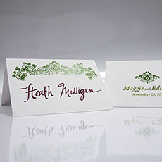 Luck Of The Irish Place Card With Fold