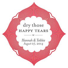 Dry Those Happy Tears Sticker