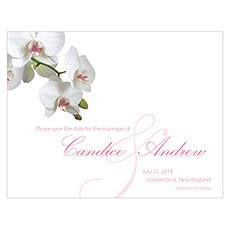 Classic Orchid Save The Date Card