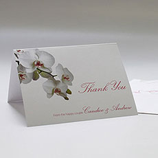Classic Orchid Thank You Card
