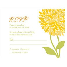 Zinnia Bloom RSVP