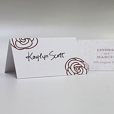 Rose Place Card With Fold