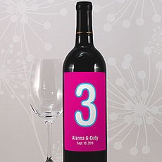 Retro Pop Table Number Wine Label