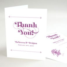Fanciful Monogram Thank You Card