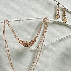 Multi Beads in Champagne & Gold Drop Jewelry