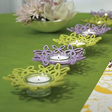 Felt Butterfly Ring Candle Holders