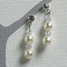 Illusion Set Pearls and Crystals Jewellery