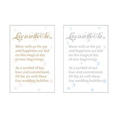 """Love is in the Air"" Bubble Card"