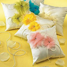 """I Do . . . Color"" Ring Pillow"