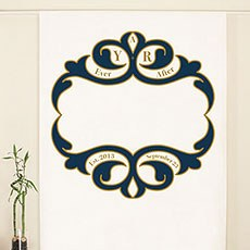 Ornate Monogram Personalized Photo Backdrop