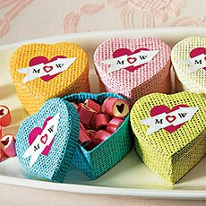 Woven Heart Shaped Box with Lid