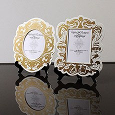 Baroque Paper Frames with Table Easels - Small