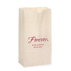 """Forever."" Self-Standing Paper Goodie Bag"