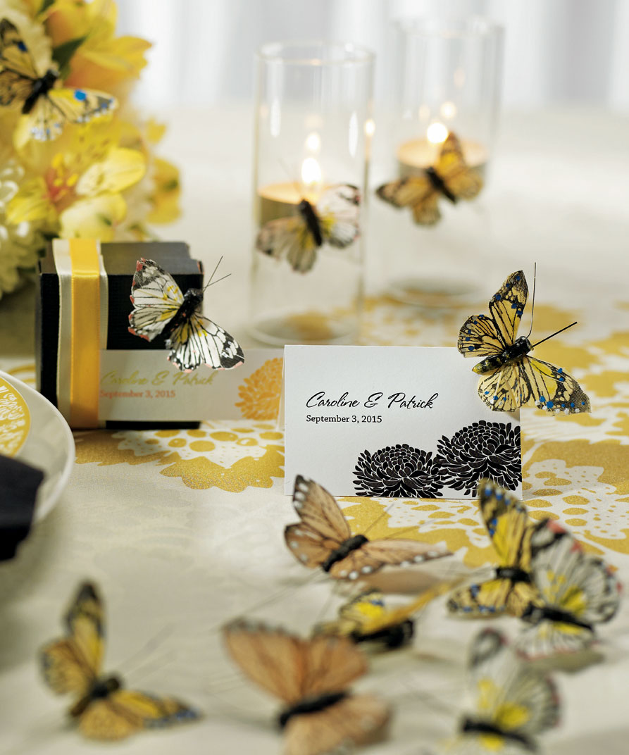Decorations For Tables Wedding Ideas: Butterfly Spring Wedding Party Table Decoration Set Hand