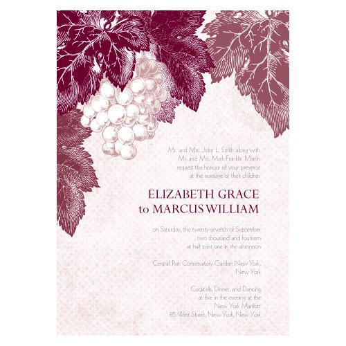 Wedding Ideas wine themed wedding invitations